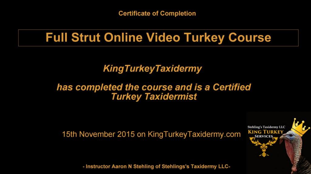 turkey course cert